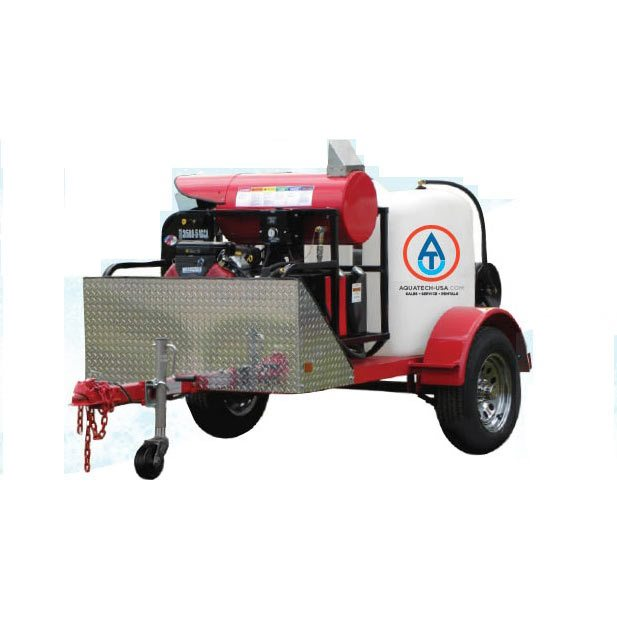 Industrial Pressure Washer Portable Tank & Trailer System - Hot Water (Gas)