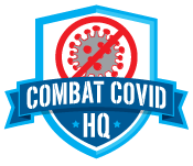 Combat Covid HQ Badge